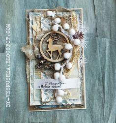 Привет, девушки и юноши! Совсем я что-то отвыкла от ведения блога, отлыниваю постоянно. Вроде и делаю что-то, но почти все работы кажут... Diy Cards, Handmade Cards, Christmas Cards, Christmas Decorations, Christmas Shadow Boxes, Diy And Crafts, Paper Crafts, Shabby Chic Christmas, Vintage Shabby Chic