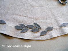 homey home design: Christmas Tree Skirt Tutorial