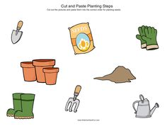 Cut out the pictures and paste them into the correct steps on page 2 http://www.kidscanhavefun.com/cut-paste-activities.htm #cutpaste #planting #kidsactivities