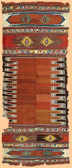 Turkish Rugs: Antique Karapinar Kilim Circa 1800