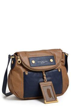 MARC BY MARC JACOBS 'Preppy Colorblock - Natasha' Leather Crossbody Bag
