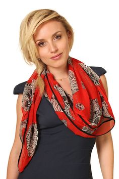 Women's Atomic Sugar Queen Skull Scarf Fashion Shawl with Black Piping ** Insider's special review you can't miss. Read more  : Best Travel accessories for women