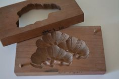 Kashigata sweets mold, hand carved,  antique Japanese kashigata, pine design
