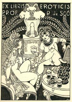 ex libris eroticis Ex Libris, Pen Sketch, Arte Pop, Illustration Girl, Art Of Living, Ancient Art, Plexus Products, Erotic Art, Macabre