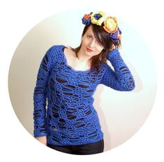 PDF Crochet Pattern  No Stress Sweater  sizes by ElevenHandmade