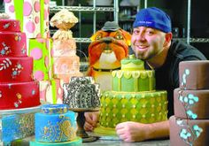 """Ace of Cakes - reality tv about """"duff"""" and his team at charm city cakes. Jeffrey Adam """"Duff"""" Goldman is a pastry chef and television personality. He is the executive chef of the Baltimore-based Charm City Cakes shop Beautiful Cakes, Amazing Cakes, Duff Goldman Cakes, Pasteles Cake Boss, Charm City Cakes, Creative Cakes, Unique Cakes, The Duff, Let Them Eat Cake"""