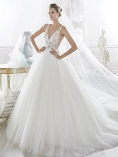 44b4714bb63b Lace  amp  Tulle Ball Gown by Nicole Spose Wedding Dresses - Amara   WeddingDresses