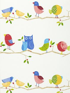 """""""What a Hoot"""" Harlequin Wallpaper. Adorable."""