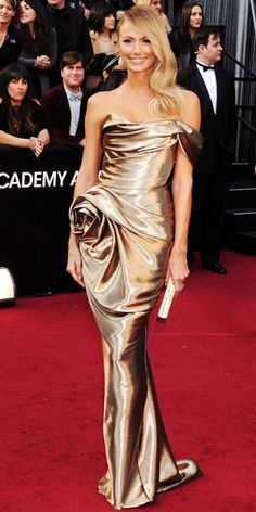 Stacey Keibler in Marchesa Fall 2012 at the 2012 Oscars