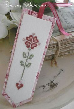 So, as promised, I will share my step by step instructions for how to back a cross stitch bookmark. Just Cross Stitch, Cross Stitch Finishing, Cross Stitch Heart, Cross Stitch Freebies, Cross Stitch Bookmarks, Cross Stitching, Cross Stitch Embroidery, Cross Stitch Designs, Cross Stitch Patterns