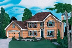 Traditional Style House Plan - 4 Beds 2.5 Baths 2411 Sq/Ft Plan #20-867 Exterior - Front Elevation - Houseplans.com