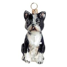 Our collectible Boston Terrier Ornament from Joy to the World was created with the utmost attention to quality and detail. The finest artisans in Poland    individually mouth blow and hand paint each ornament, achieving new levels of innovation and artistic integrity in their designs. Using only traditional    old world production methods and materials sourced from European countries, they ensure that each ornament is an impressive work of art that will be    treasured for generations.  ...