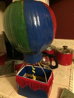 Hot air balloon out of a pumpkin I made