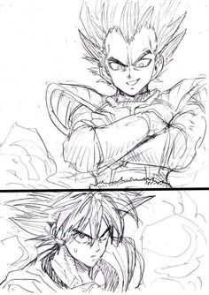 One Punch Man Illustrator Yusuke Murata doesn't attempt to hide his adoration of Dragon Ball. Murata has shared some of his takes on Dragon Ball characters, including Goku, Krillin, and some of Dragon Ball Super's Gods of Destruction. One Punch Man Manga, Reference Manga, Drawing Reference, Vegito Y Gogeta, Manga Anime, Goku Manga, Ball Drawing, Super Anime, Manga Artist
