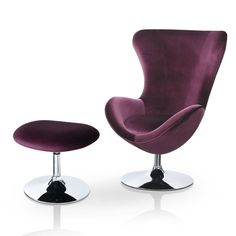 Kirree Contemporary Lounge Chair and Ottoman