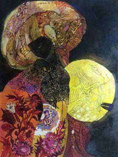 Hecate by Russian painter Olga Zelinskaya Paintings For Sale, Original Paintings, Queen Art, Surreal Art, Oil Painting On Canvas, Painting Inspiration, Art Inspo, Black Art, Pattern Art