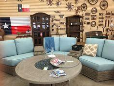 Wicker Patio Furniture #thebackyardandpatiostore #tbyaps #ebel #waco Wicker Patio Furniture, Outdoor Furniture Sets, Outdoor Decor, Outdoor Living, Couch, Design, Home Decor, Outdoor Life, Homemade Home Decor