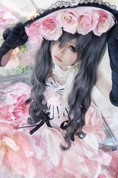 Ciel Phantomhive is the main character in the Kuroshitsuji anime (Black Butler), he is a remaining descendant of the Phantomhive noble fami. Kawaii Cosplay, Anime Cosplay, Ciel Cosplay, Lolita Cosplay, Epic Cosplay, Cosplay Makeup, Amazing Cosplay, Cosplay Outfits, Cosplay Girls