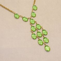 Vintage 1930s Necklace Art Deco Open Back Green by 4dollsintime, $48.00