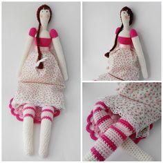 #crochet, free pattern, Pitusas & Petetes: Tilda Matilda Amigurumi, doll, #haken, gratis patroon (Engels), pop, knuffel, speelgoed, haakpatroon