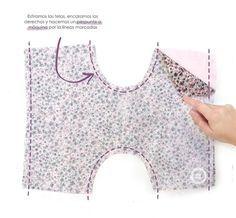 Braguita cubrepañal de bebé DIY - Tutorial y patrón