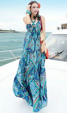 summer long chiffon beach dress pink | beach long dress ...