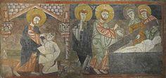La curación del ciego y la resurrección de Lázaro. Ermita de san Baudelio, en Berlanga (Soria, España).