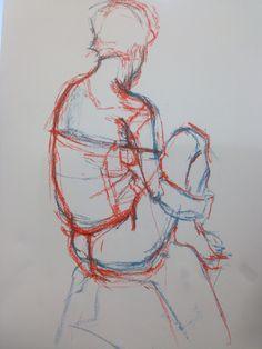 Soft #pastel back view #sketch #drawing www.fionawilsonart.com
