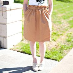 Learn to make this cute and comfortable paper bag skirt!