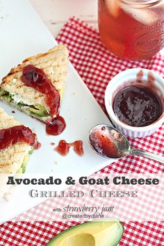 avocado goat cheese grilled cheese @createdbydiane Grown-UP Grilled Cheese!