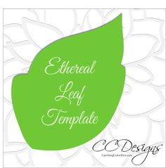 Athena Peony Large Flower Template - Catching Colorlfies
