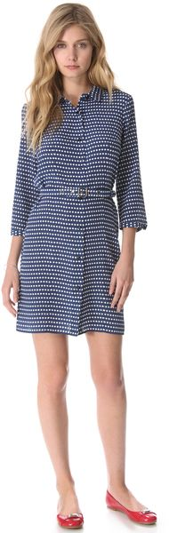 Marc By Marc Jacobs Izzy Dot Print Dress in Blue - Lyst