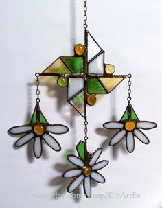Stained+Glass+Pendant+mobile+Daizy.+Pinwheel.+by+DizArtEx+on+Etsy
