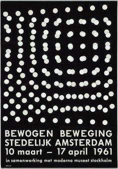 Dieter Roth Exhibition poster for iBewogen Beweging/i