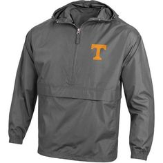Champion Men's University of Tennessee Packable Jacket (Grey, Size X Large) - NCAA Licensed Product, NCAA Men's Fleece/Jackets at Academy Sports