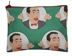 PEE WEE HERMAN coin purse/ credit card holder/ by kayciwheatley, $22.00