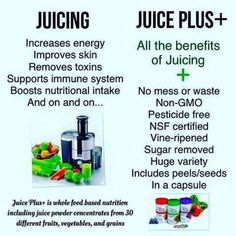 Juicing is hard and expensive! Juice Plus takes 30 seconds and you get all the benefits of juicing and more!