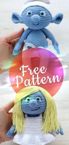 Amigurumi Smurf Free Patterns #smurfcrochet #crochetamigurumi #amigurumi