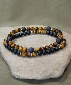 Mens Bracelet Mens Jewelry Gemstone Bracelet by StoneWearDesigns...
