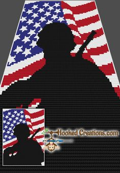 Single Soldier Twin Blanket Crochet Pattern includes a full size color with symbols graph, written instructions, and color blocks Bobble Stitch Crochet, C2c Crochet Blanket, Crochet Blanket Patterns, Crochet Stitches, Crocheted Blankets, Filet Crochet, Baby Blankets, How To Start Knitting, Crochet Patterns Amigurumi