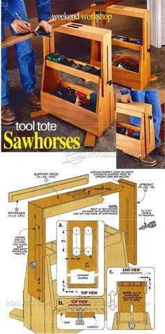 Tool Tote Sawhorses - Workshop Solutions Projects, Tips and Tricks | WoodArchivist.com