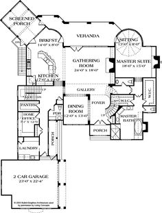 First Floor Plan Of Country European House Plan 85654
