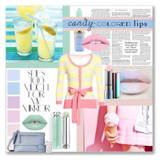 """""""Candy Lips"""" by indigo-summer ❤ liked on Polyvore featuring beauty, MAC Cosmetics, Rika and Knomo"""