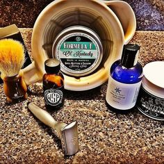 @Regrann from @tjlentz19 -  A late #sotd tribute to yesterday's #kentuckyderby race   @wetshavingproducts #olkentucky Formula T shave cream. Like all of Lee's soaps A on scent and lather  #vielong Horse hair brush  @option.five DE razor such a unique razor but a smooth shaver  post-shave #nancyboy cooling shave gel  @wetshavingproducts fougere noir after shave  #gotd some @layriteofficial cement for the mane  so it doesn't move in the wind  #wetshaveloyalists #wetshave #wetshaving #pomade…