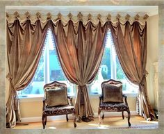 Curtains & Window Treatments | Reilly-Chance Collection Dining Room Curtains, Living Room Drapes, Window Treatments Living Room, Dining Rooms, Luxury Curtains, Velvet Curtains, Drapes Curtains, Drapery Panels, Valances