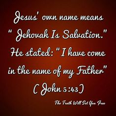 "Jesus speaks of coming as his Father's ""representative"", ""mediator between God and men"", and as a ""savior"". He is spoken of as a ""godlike one"" and ""divine"" by John, but never as the Eternal, Almighty God, Jehovah.."