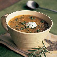Split Pea Soup with Rosemary -- Classic split pea soup is given an herb makeover with the addition of rosemary in the ingredient list. Another unexpected (but delightfully delicious) flavor? Soy sauce—you've got to try this one!