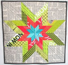 like the idea of the newspaper print fabric and the star, but I'd do it in a different colorway