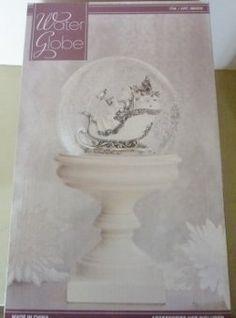 Water Globe White & Silver Christmas Sleigh Blower Circulates Snow (bestseller)