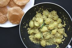Bengali Aloo Posto - Spiced potatoes cooked with poppy seeds, chilli and turmeric